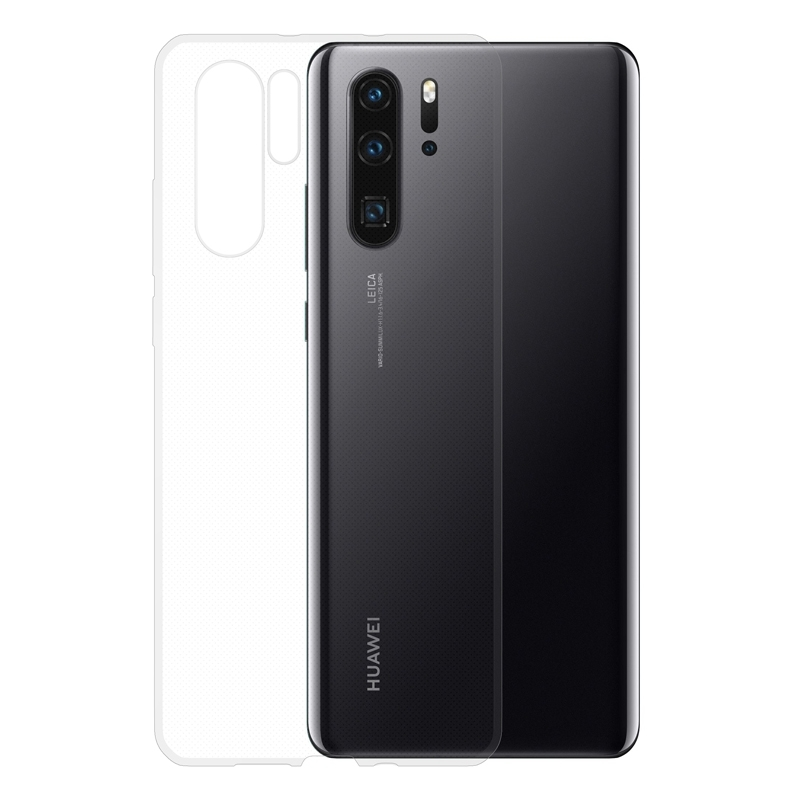 Gumové pouzdro na Huawei P30 Pro transparentní