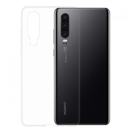 Gumové pouzdro na Huawei P30 transparentní