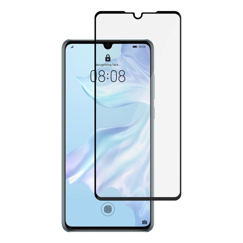 Ochranní sklo na Huawei P30 černé